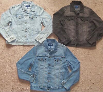 New Mens Arizona Jeans Co. Denim Trucker Jacket MSRP $50-$59 Arizona Denim Jacket