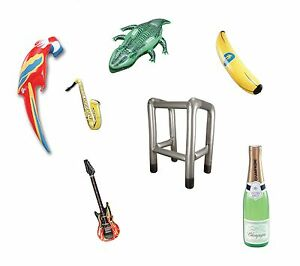 INFLATABLE-GUITAR-ANIMAL-SHARK-CROCODILE-FRUIT-GUN-FANCY-DRESS-PROPS-ALL-KINDS