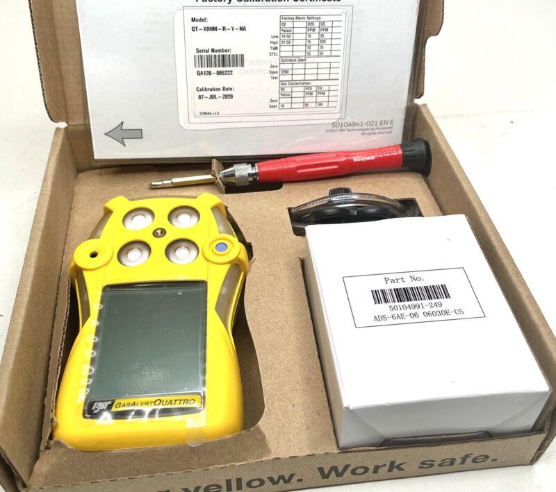 BW Technologies QT-X0HM-R-Y-NA GasAlertQuattro Rechargeable 3-Gas Detector - NEW