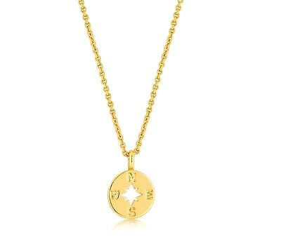 Compass Necklace Gold Charm Travel Journey Best Friend Lady Women Jewelry gift