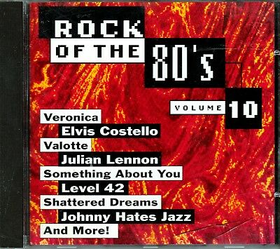 Rock 80s Vol 10 CD Classic Great JULIAN LENNON JOHNNY HATES JAZZ  BOY MEETS GIRL - 80s Rock Girls
