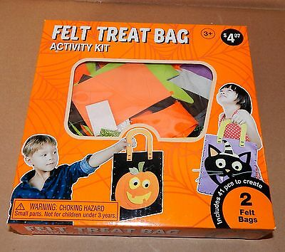 Felt Treat Bag Kids Activity Kit By Wal Mart 41pc Makes 2 Felt Bags Stickers 54C