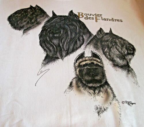 """Bouvier des Flandres T-shirt  """" White """" SM ( 34 ~ 36 )"""