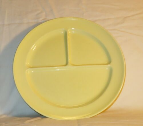 LuRay Pastels 3 Compartment Divided Grill Plate T.S.&T. Taylor Yellow