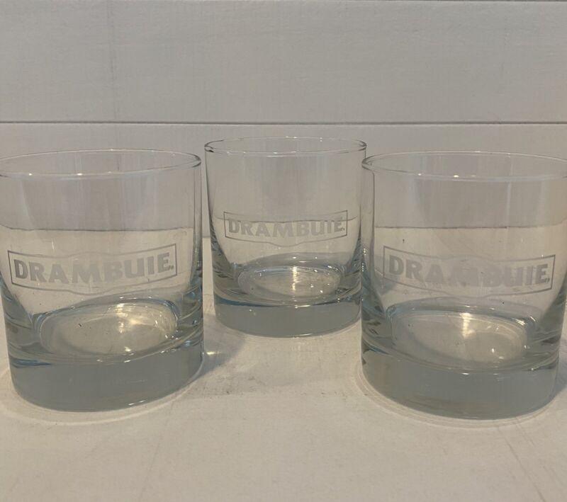 """Set of 3 Drambuie Scotch Glass Whisky Rocks 3 1/2"""""""