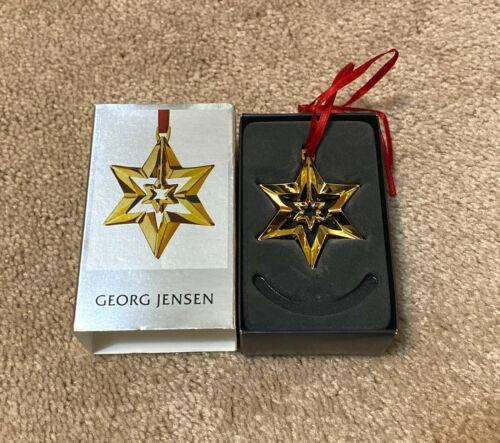 Georg Jensen 24k Gold Plated Brass Christmas Holiday Ornament Star 2010 #3411210