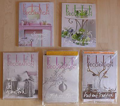 ELLE Decoration Zeitschriften - 05/16 bis 02/17 - 6 Hefte - Wohnen - Deko - NEU*