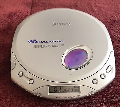 Sony Walkman D-E350 ESP MAX CD-R/RW Portable CD Player Silver Tested And Works