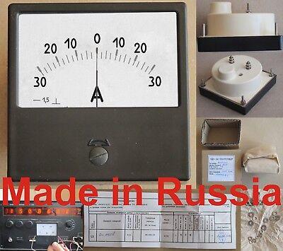 30-0-30a Dc1.5 80x80mm Russia M42300 Ampmeter Ampere Meter Current Gauge