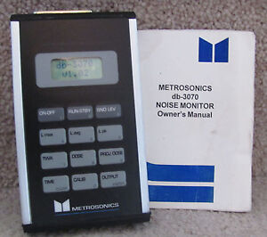Metrosonics-DB-3070-Noise-Dosimeter-Sound-Level-Meter-Documenting-Excellent
