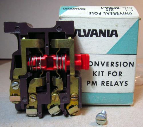 Sylvania GTE KPMA-1 Universal Pole Kit Conversion for PM Relays NOS Stamfort CT