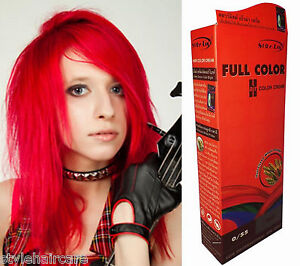 Hair-COLOR-Permanent-Hair-Cream-Dye-Punk-Rock-Glam-RED
