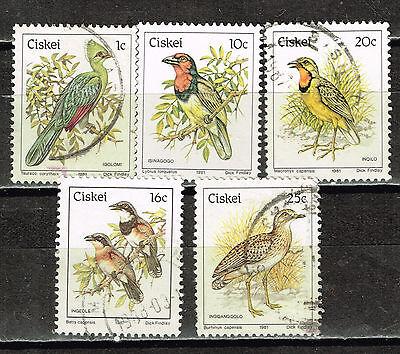 CISKEI AFRICAN FAUNA BIRDS STAMPS 1981