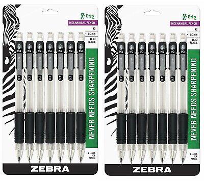Zebra Z-grip Mechanical Pencil 0.7mm Point Size Hb 2 Black Grip 14-count