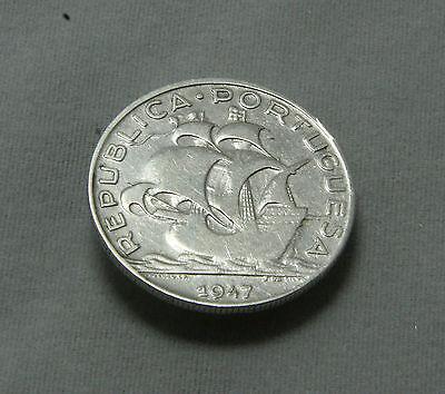 Portugal 5 Escudos 1947 (KM# 581) Silver