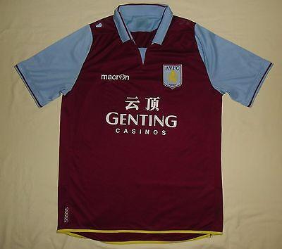 ASTON VILLA/2012-2013 Home - MACRON - MENS football Jersey/Shirt. Size: L? image