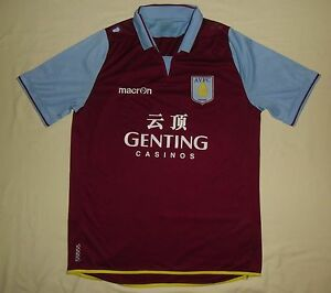 ASTON VILLA / 2012-2013 Home - MACRON - MENS football Jersey / Shirt. Size: L? - Poland, Polska - If an item is to be returned because you changed your mind (you do not like the color, size etc), you will have to cover the return shipping's fee. I do my best to describe the listed stuff as well as possible and the exact size numbers a - Poland, Polska
