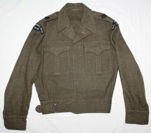 ORIGINAL 1949 CANADIAN BATTLE DRESS JACKET W/ ROYAL WINNIPEG RIFLES PATCHES