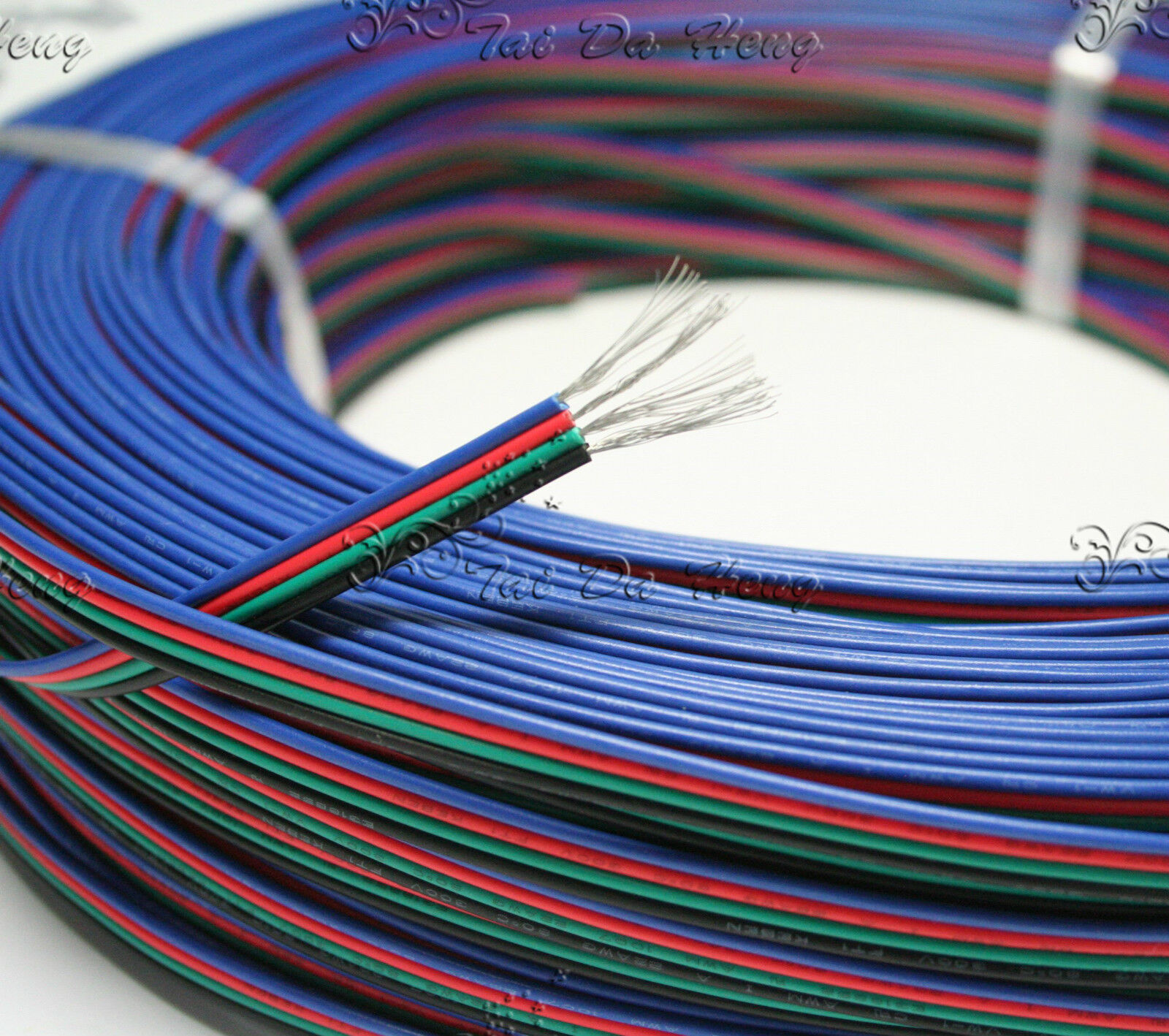 5m 4 pin wire rgb extension cable cord 22awg for 3528 5050 led strip light ebay. Black Bedroom Furniture Sets. Home Design Ideas