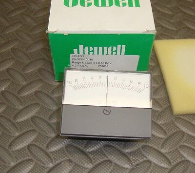 New Jewell 2s-dvv-10u10 Analog Panel Meter 10 Dc Volts 10-0-10 Range Modutec