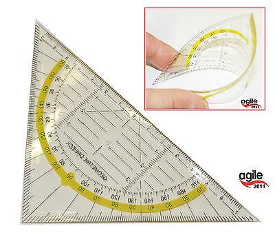 Geodreieck unzerbrechlich flexibel Geometrie Lineal flexibel Schule Büro