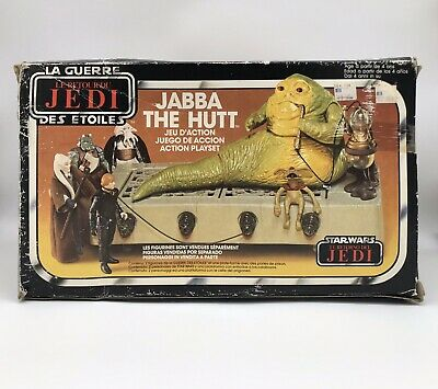 Vintage Star Wars Jabba The Hutt Box Only Tri Logo Palitoy Action Figure Playset