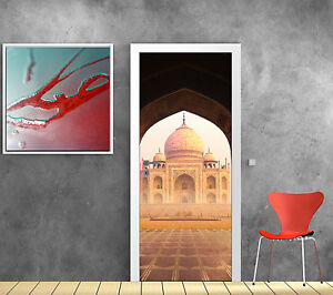 Stickers porte trompe l 39 oeil d co palais orientale taj mahal r f 811 - Deco trompe l oeil muurschildering ...