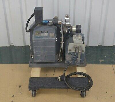 Welch Model 1373 Duo-seal Belt Drive Vacuum Pump W Ge Motor 12 Hp 1425 Rpm