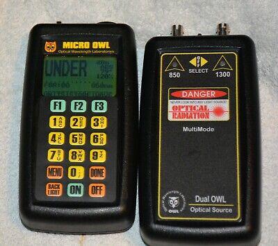 Micro Owl Mo-1 Ver 1.30e Optical Power Meter And Do-1 Optical Source