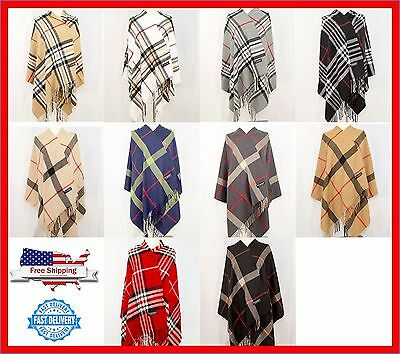 Large Blanket 28X80 Scarf 100  Cashmere Stole Shaw Wrap Scotland Wool Warm Thick