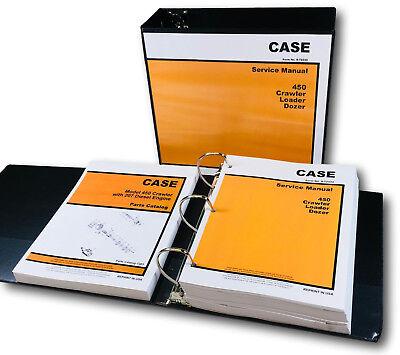 Case 450 Crawler Loader Dozer Service Manual 207 Diesel Engine Parts Catalog Set