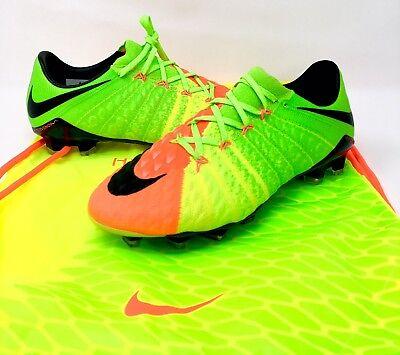 sports shoes 55f44 d2fb5 Nike Hypervenom Phantom III 3 FG Soccer Cleats Green Orange 852567-308 Size  6.5
