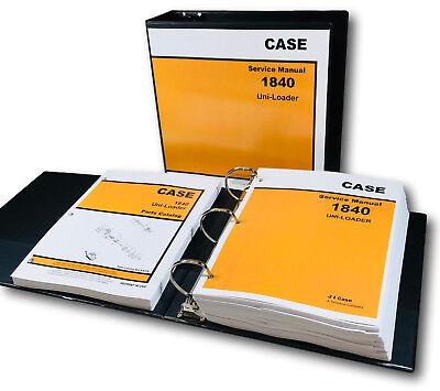 Case 1840 Uni-loader Skid Steer Service Manual Parts Catalog Shop Book Set Ovhl