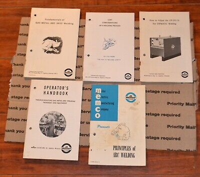 Lot Of 5 Miller Welder Booklots