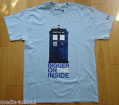 DOCTOR WHO BIGGER ON THE INSIDE TARDIS BBC TV COLLECTOR'S T SHIRT L NEW + GIFT