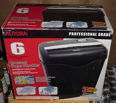 Aurora Professional Grade Cross Cut Paper Shredder New In Box
