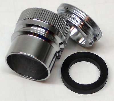 Faucet Aerator Adapters - 30168LF GDishwasher Faucet Adapter Aerator Dual Thread Snap Fitting EZ Flo
