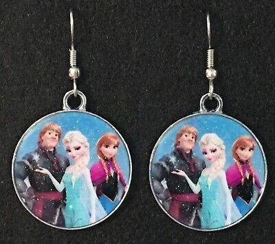 ELSA and ANNA Earrings w/ KRISTOFF Disney Surgical Hook New Frozen Ice Princess - Elsa And Anna Frozen