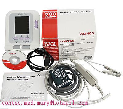 Veterinary Digital Blood Pressure Monitor Tongue Clip Spo2 Pr Probe Cuffvet
