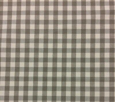 Ballard Designs Small Check Taupe Cream Multipurpose Fabric By The Yard 56 W