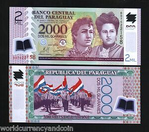 PARAGUAY-2000-NEW-2009-SISTERS-UNC-POLYMER-B-BOOK-NOTE