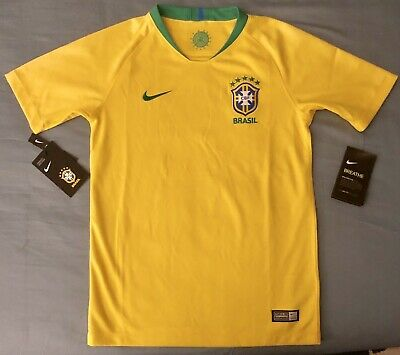 7b69edec1 Nike Brazil Youth Unisex National Team Home Soccer Jersey. Youth Size   Medium
