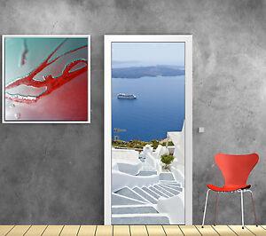 stickers pour porte trompe l 39 oeil d co escalier mer r f 785 ebay. Black Bedroom Furniture Sets. Home Design Ideas