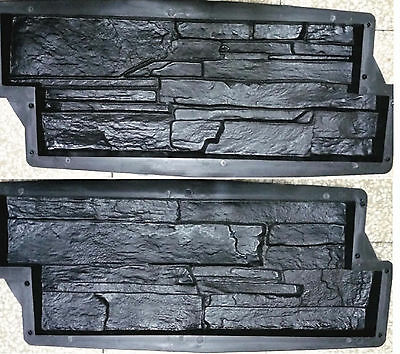 Stampi cemento matrice Forma Rivestimento Effetto Ardesi finta pietra fai da te