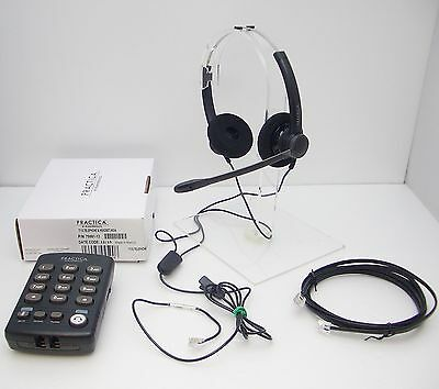 Plantronics Practica SP12 Binaural Noise Canceling Headset + T110 Dial Key Pad