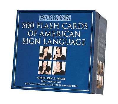 Barrons 500 Flash Cards Of American Sign Language Free Shipping