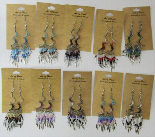 SPIRAL Dream Catcher Earrings w/Dangles, Wholesale Lot of 10 Earrings
