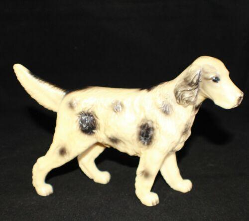 "Vintage Black & White ENGLISH SETTER Dog 7"" Celluloid Figurine"