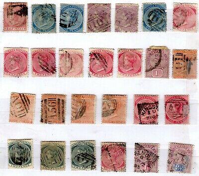 Jamaica- 26 Victoria 19th Century Heads- 4 Scans