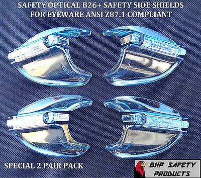 B26 Side Shields For Rx Glasses Safety Eyewear Eye Protection Ansi Z87.1 2 Pr